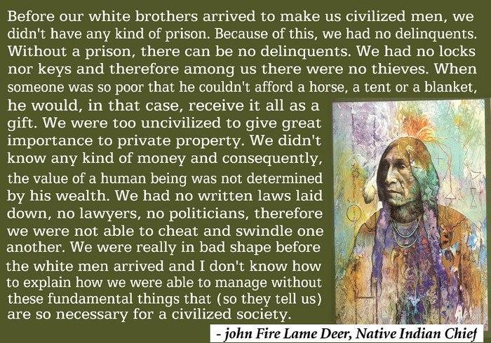 Native American Society Quote