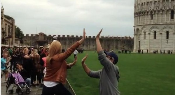 high-fiving-at-pisa