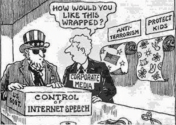 Controlling Internet Speech Cartoon