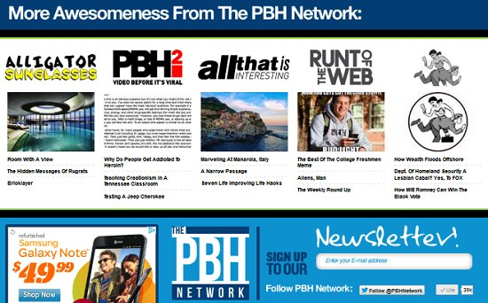 PBH Network Instagram and Redesign