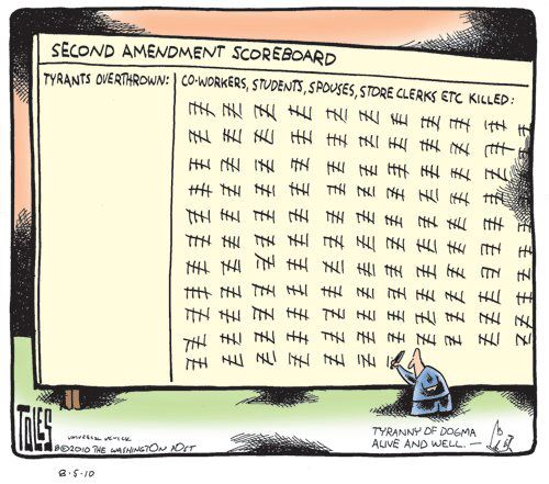 The Second Amendment Scoreboard Cartoon