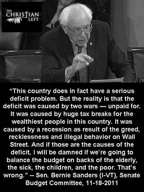 Bernie Sanders On The Deficit