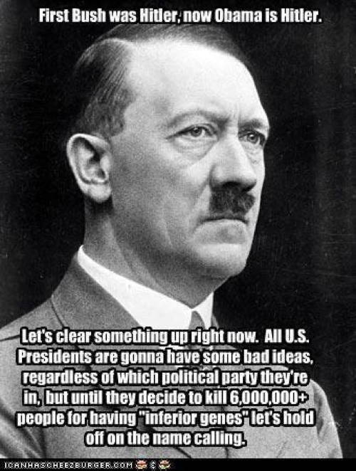 Wrong To Call Politicians Hitler