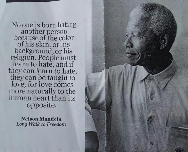 Nelson Mandela On Hate
