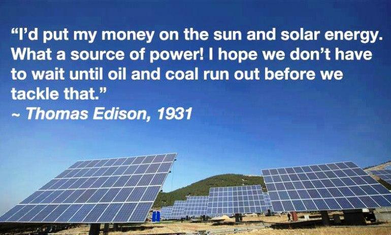 Thomas Edison On Alternative Energy