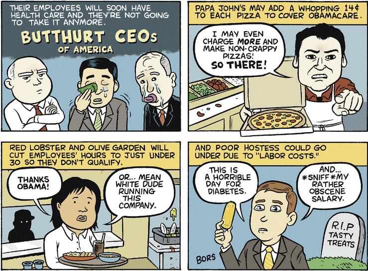 Butthurt CEOS In America