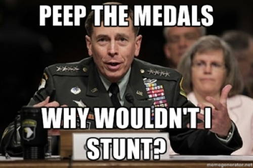 petraeus meme medals The Best Petraeus Affair Memes