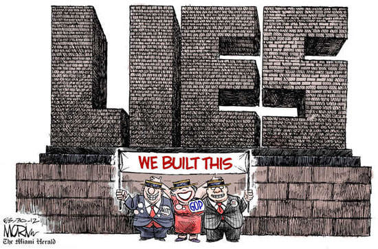 Best Political Cartoons 2012 Building Lies
