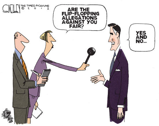 Best Political Cartoons 2012 Flip Flop