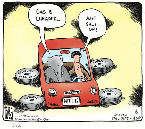 Best Political Cartoons 2012 GOP Car