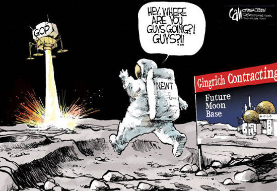 Best Political Cartoons 2012 Newt