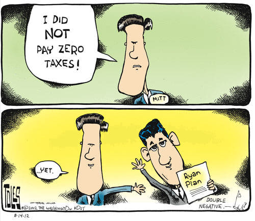 Best Political Cartoons 2012 Taxes