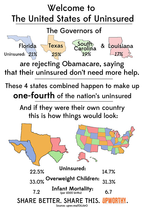 Map Of Uninsured