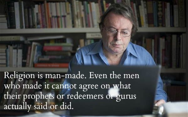 Christopher Hitchens Quotes Man Religion