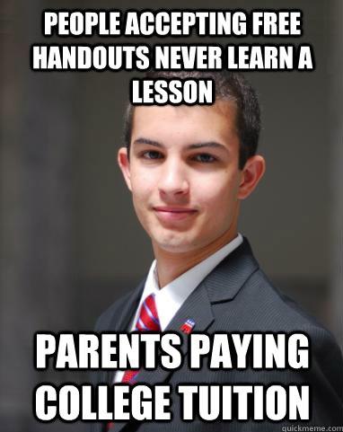 College Conservative Handouts