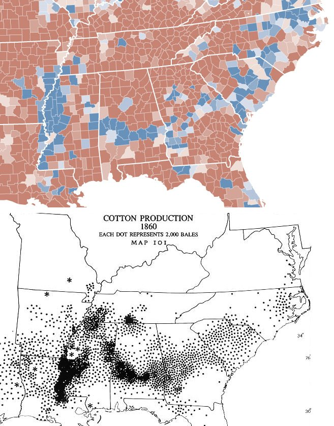 Election Map 2012 And Cotton Countries