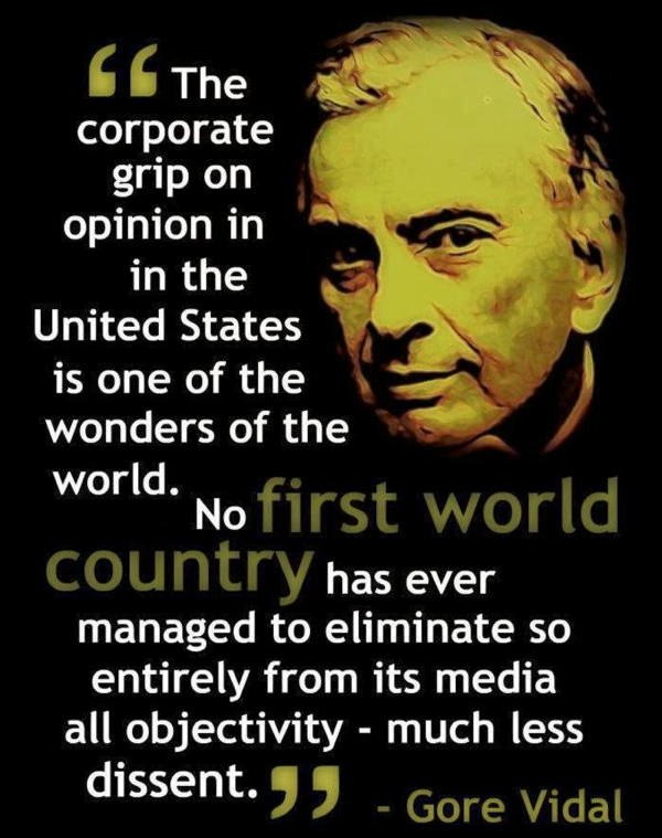 Gore Vidal Quotes Corporate Grip