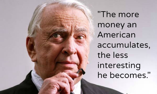 Gore Vidal Quotes Money
