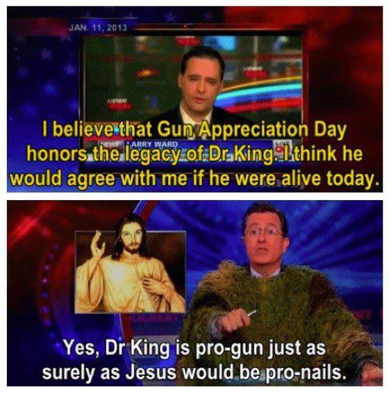 Stephen Colbert on Gun Control