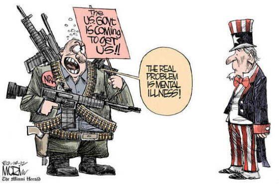 Best Gun Control Cartoons And Memes Mental Illness