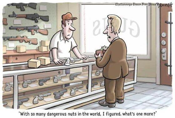 Best Gun Control Cartoons Nuts