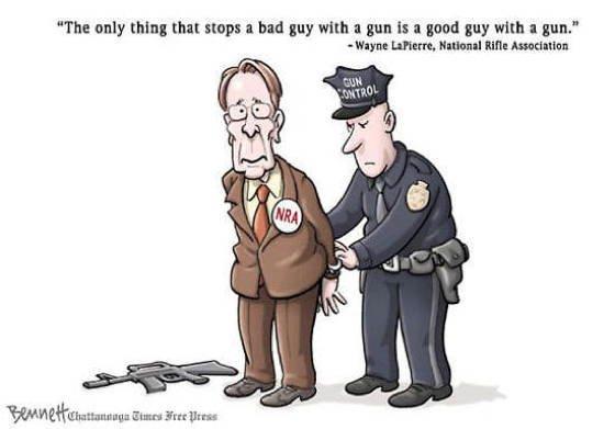 Gun Control Cartoons Wayne LaPierre