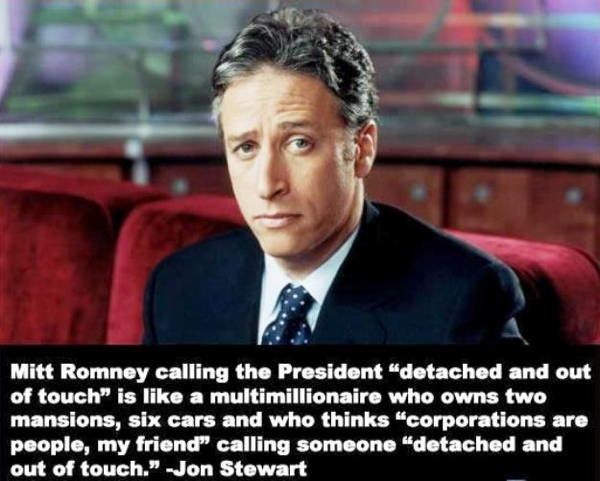 Jon Stewart on Mitt Romney