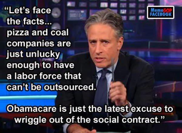Best Jon Stewart Quote on Outsourcing