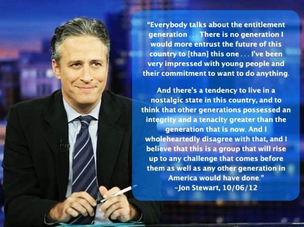 Jon Stewart on This Generation