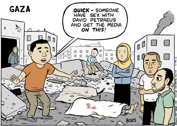Matt Bors Cartoons Gaza