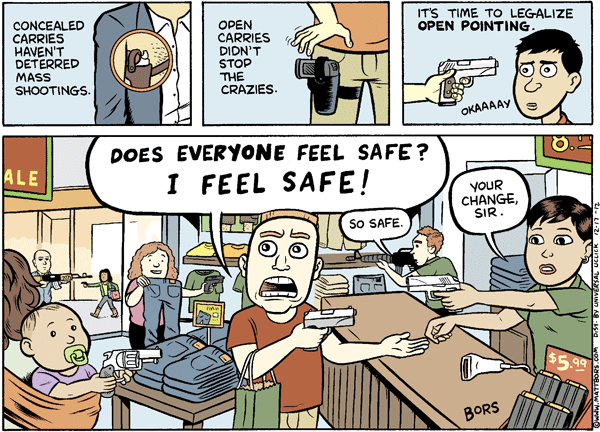 Matt Bors Cartoons Gun Safety