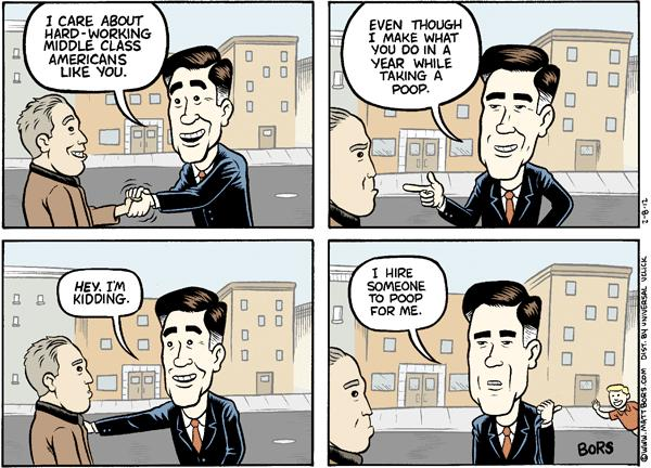 Matt Bors Cartoons Mitt Romney