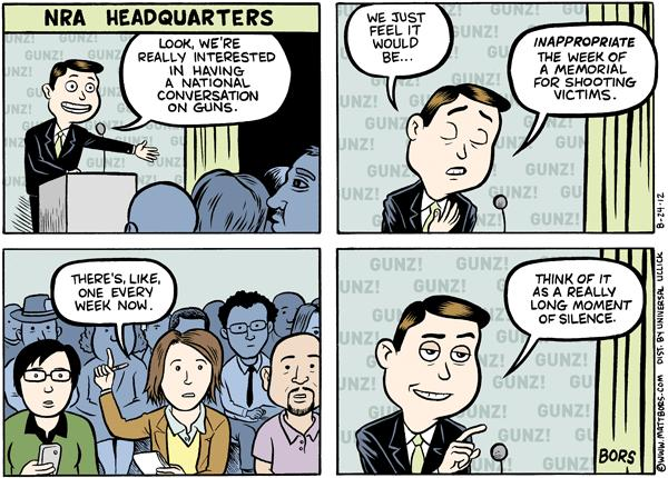 Matt Bors Cartoons NRA