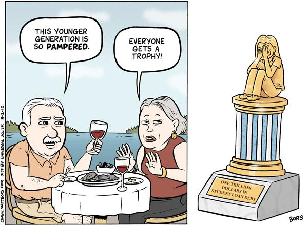 Matt Bors Cartoons Pampered Generation