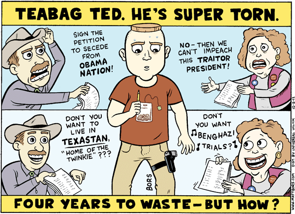 Matt Bors Cartoons Tea Party