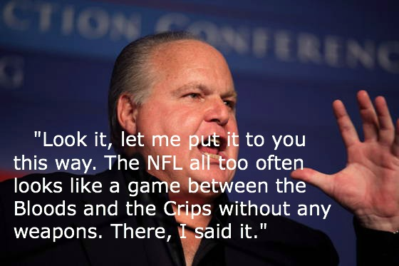 Rush Limbaugh Quotes NFL