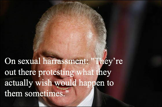 Rush Limbaugh Quotes Sexual Harassment
