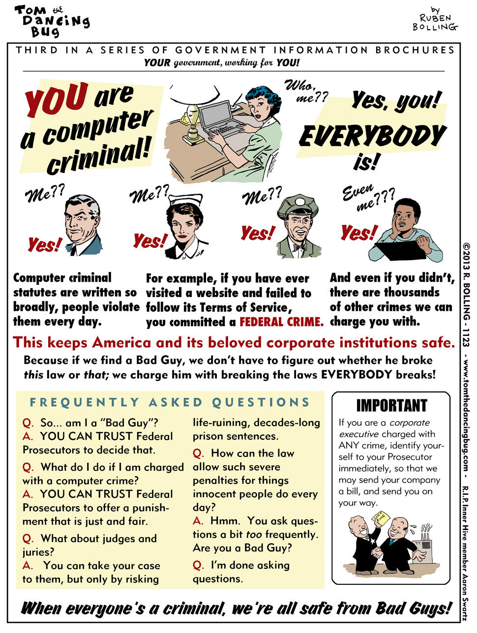 Computer Criminals Cartoon