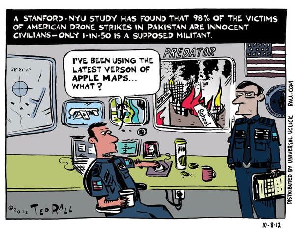 Drone Cartoons apple