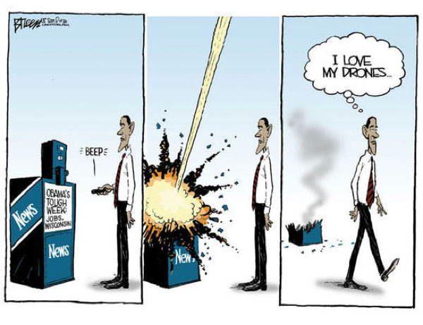 Drone Cartoons Obama