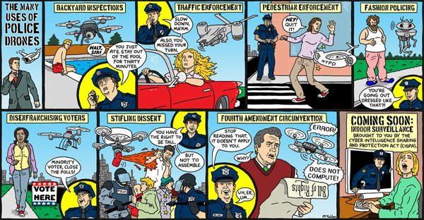 Drone Cartoons Police Drone