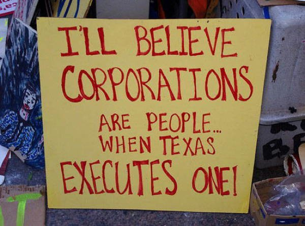 hilarious protest signs corporation texas The Most Hilarious Protest Signs Ever