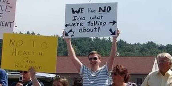 hilarious protest signs no idea The Most Hilarious Protest Signs Ever
