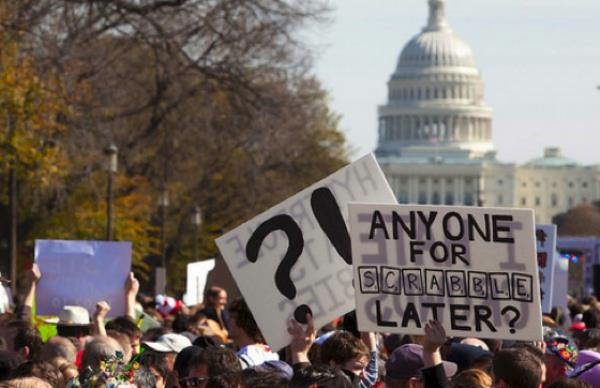 Hilarious Protest Signs Scrabble