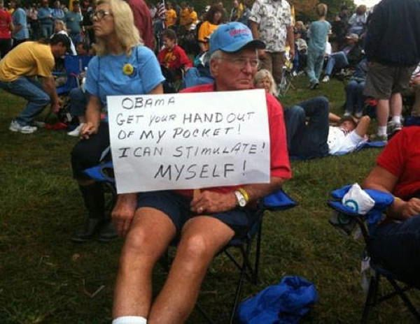 hilarious protest signs stimulus The Most Hilarious Protest Signs Ever