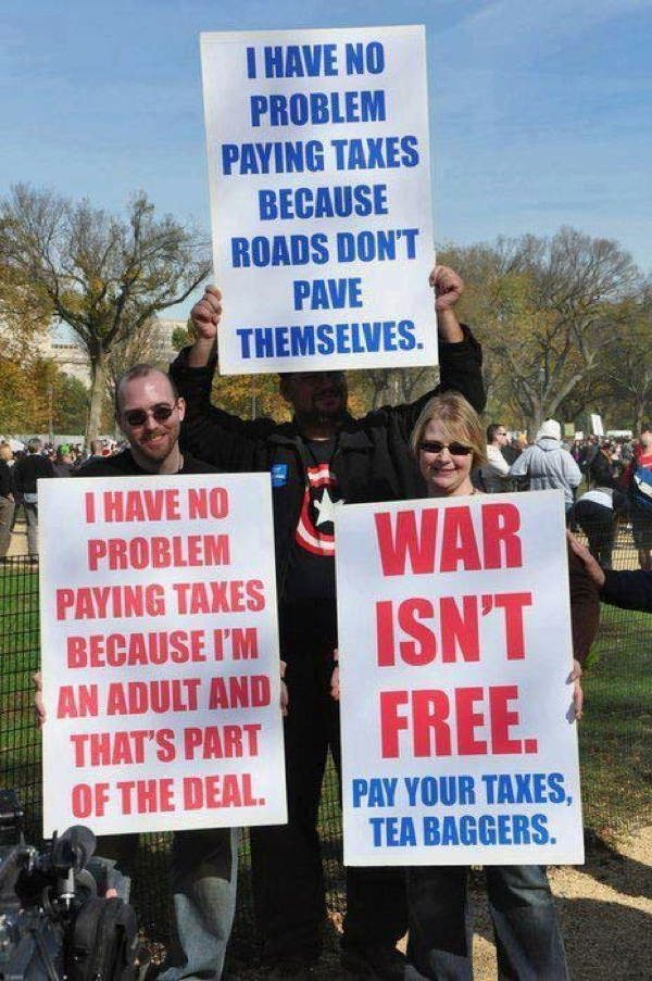 hilarious protest signs taxes The Most Hilarious Protest Signs Ever
