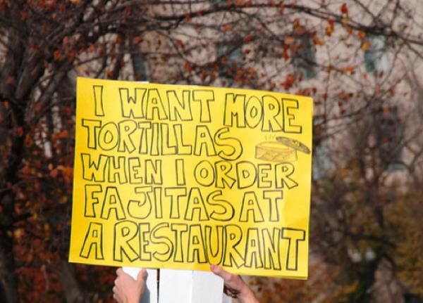Hilarious Protest Signs Tortillas