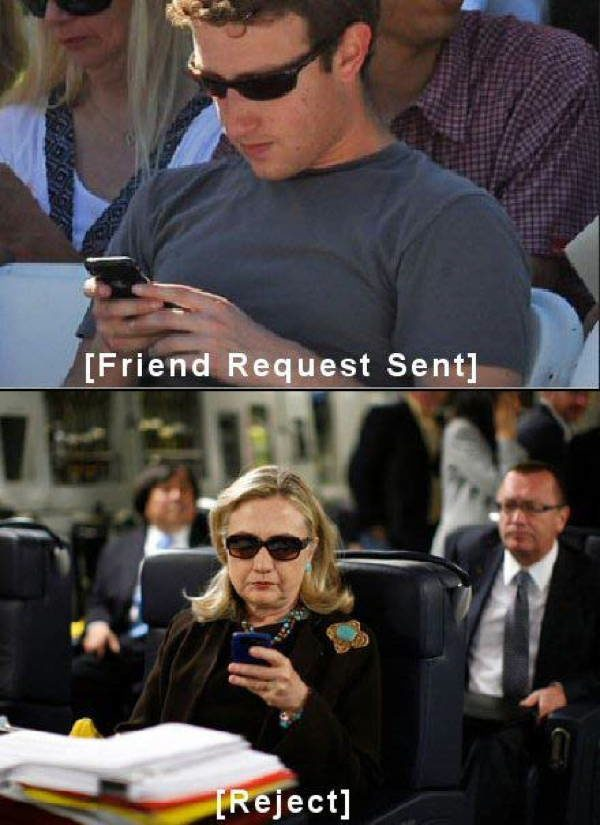 hillary zuckerberg text A Message To The Newly Retired Hillary Clinton