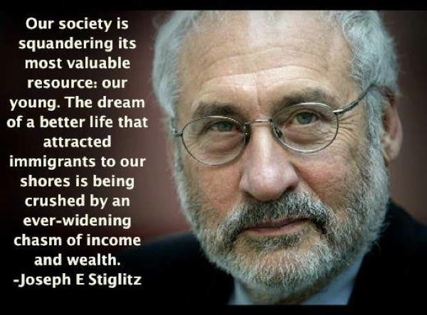 Joseph Stiglitz On Squandering Youth