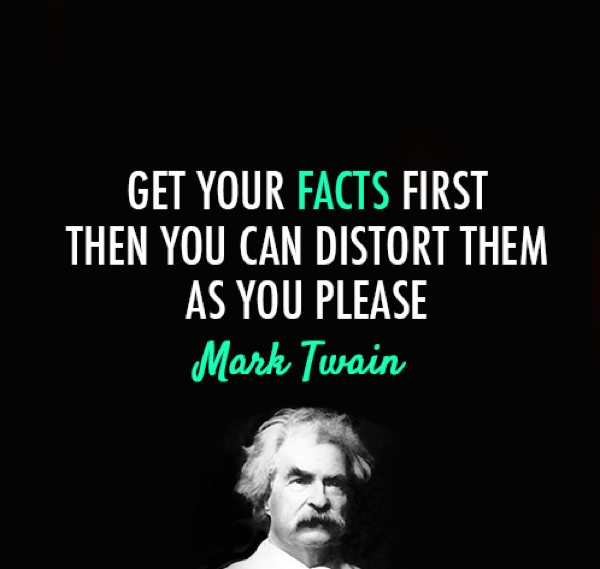 Mark Twain Quotes Facts